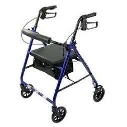 aluminum rollator rolling walker with medical curved