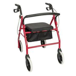 Aluminum Rollator Rolling Walker with Medical Curved Back So