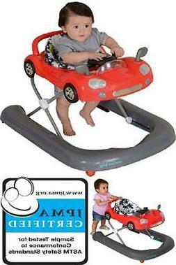 Baby Walker Cruiser Safety Sit Walk Behind 2 in 1 Toddler Ca