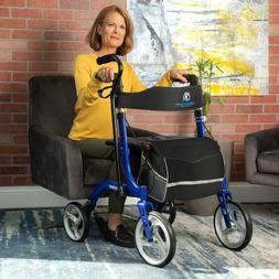 Bariatric Rollator FDA Approved Seniors Walker Aluminum Seat