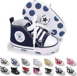 BENHERO Baby Girls Boys Canvas Shoes Toddler Infant First Wa