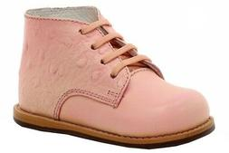 Josmo Infant Toddler Girl/'s First Walker Peach Ostrich Oxford Shoes