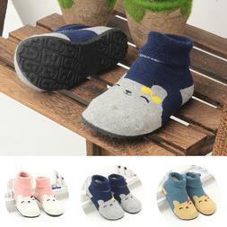 Toddler Baby Kids Girls Casual Anti-Slip Rubber Walking Shoes Socks First Walker