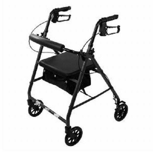 Aluminum Rollator Walker with Curved Soft