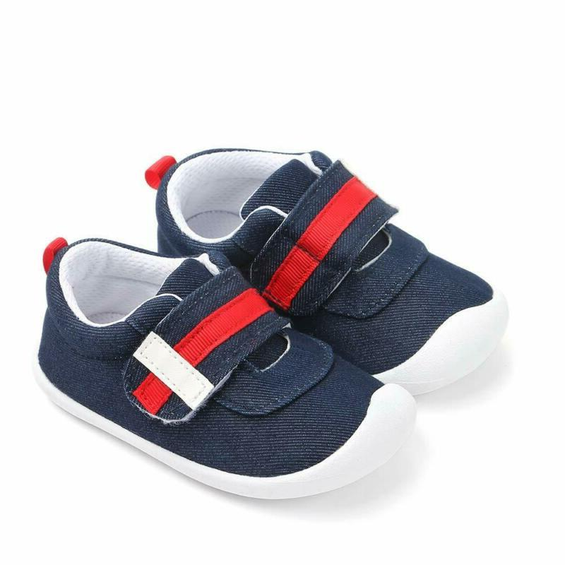 Kuner Baby Boys Girls Cotton Rubber Sloe Outdoor Sneakers First Walkers Shoes