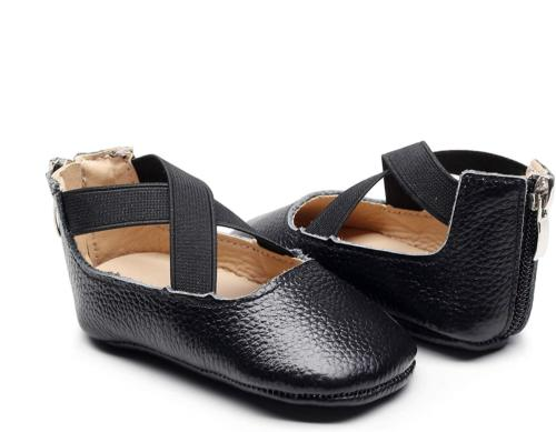 Bebila Cross-Tied Baby Moccasins Soft Leather Ballet Flats S