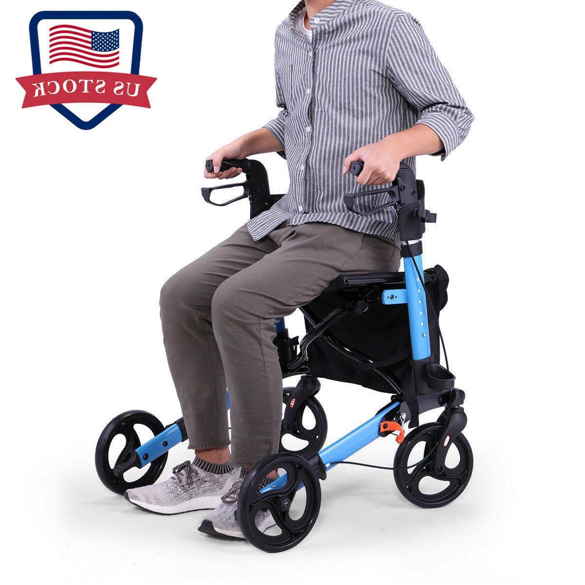 heavy duty bariatric mobility rollator w 8