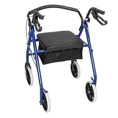 US 450lb Rolling With 4 Wheels Seat Blue