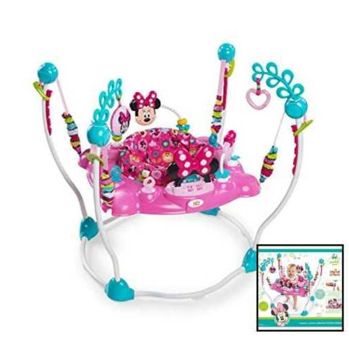 MINNIE MOUSE PeekABoo Baby Girl Activity Jumper and Toy Station