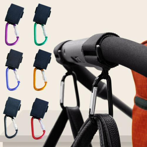 Metal Multi-function Pram Baby Stroller Hook Cart Hooks Hanger Bag Pouch Hanging
