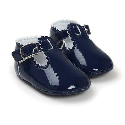 UK 0-18M Baby Girl Newborn Bling Crib Pram Shoes SPANISH Mary Jane First Walkers