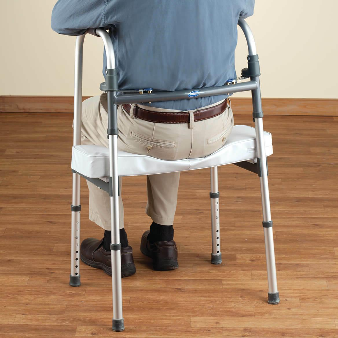 Walker Rest Seat- Attachable Seat for Folding Walker Support