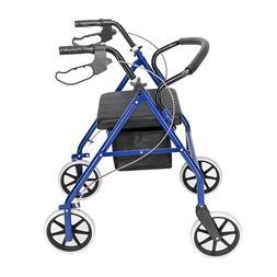 Medical Folding Rolling Walker Bariatric Rollator 450lb  Adu