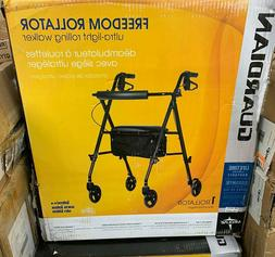 Rollator Rolling Walker with Medical Curved Back Soft Seat L