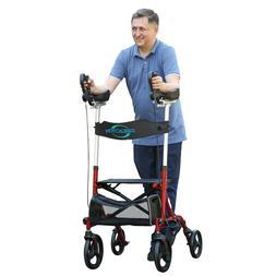 FreeAction Upright Walker Stand Up Folding Rollator Back Ere